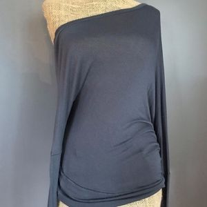 Off the shoulder gray blouse